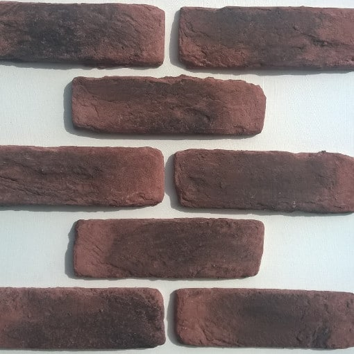 Red Slip Bricks - Red Brick Cladding - Loft Living Brick Slips - Rustic Brick Cladding