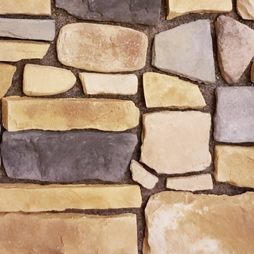 external stone slips - stone slips - mixed stone cladding - stone effect facades