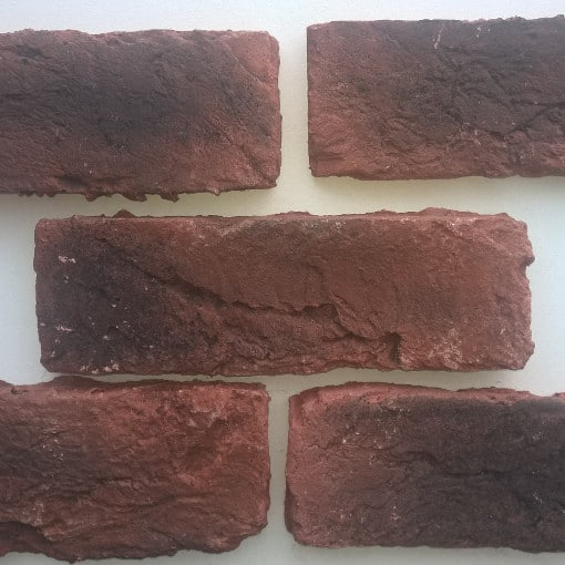 Industrial Look Brick Slips - Large Brick Slips - Industrial Look Brick Cladding - Rustic Brick Veneers