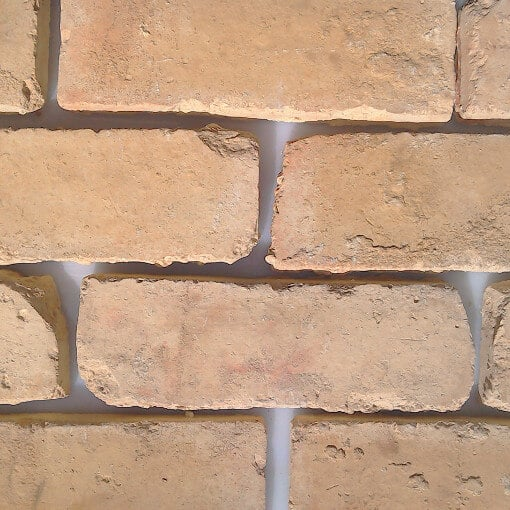 Extra Large Brick Slips - Brick Wall Cladding - Bespoke Brick Cladding - Yellow Brick Slips