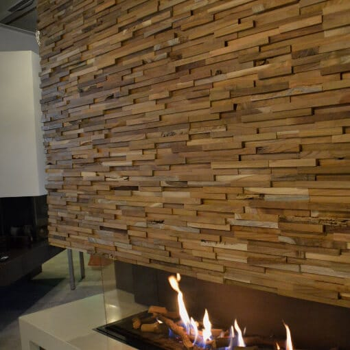 Decorative Wood Planks Natural Wood Split Face Wall