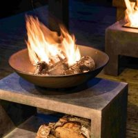 Log Fire Pits