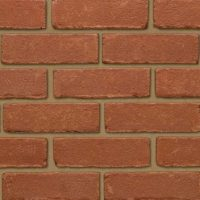 Plain Red Thin Bricks