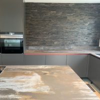Charcoal Plain Wood Splitface Panels web2