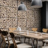 log pile wood panelling - log pile wood panels