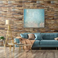 Natural Wood Stacked Wall Panels - 3D WOOD FEATURE WALL PANELS